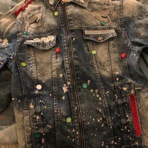 Jackets & Blazers - Men's denim jean jacket
